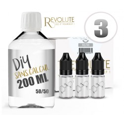 Kit 200ml Base Révolute 50%PG / 50%VG 3MG