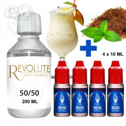 Kit 200ml Base Révolute 50%PG / 50%VG 6MG