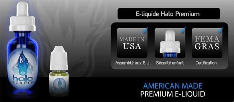 Présentation e-liquide Halo